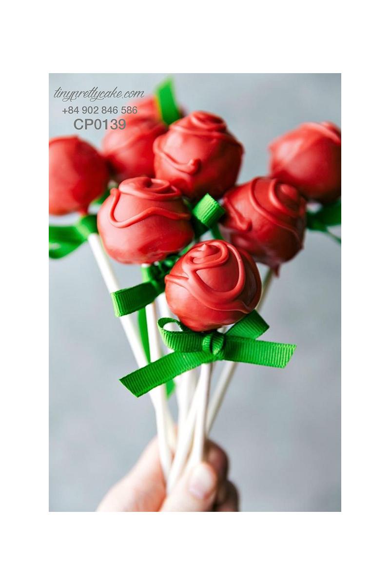 Cakepop hoa hồng cực dễ thương cho phụ nữ (CP0139)