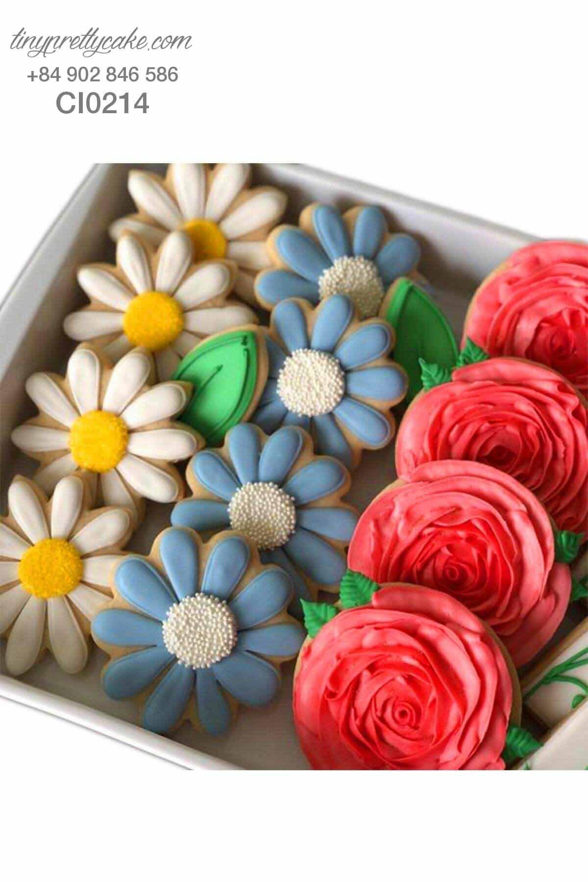 mua bánh cookie sinh nhật hoa