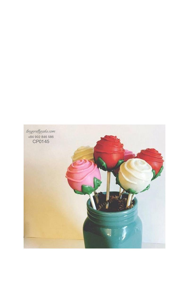 Cakepop hoa hồng nhiều màu dễ thương cho phụ nữ (CP0145)