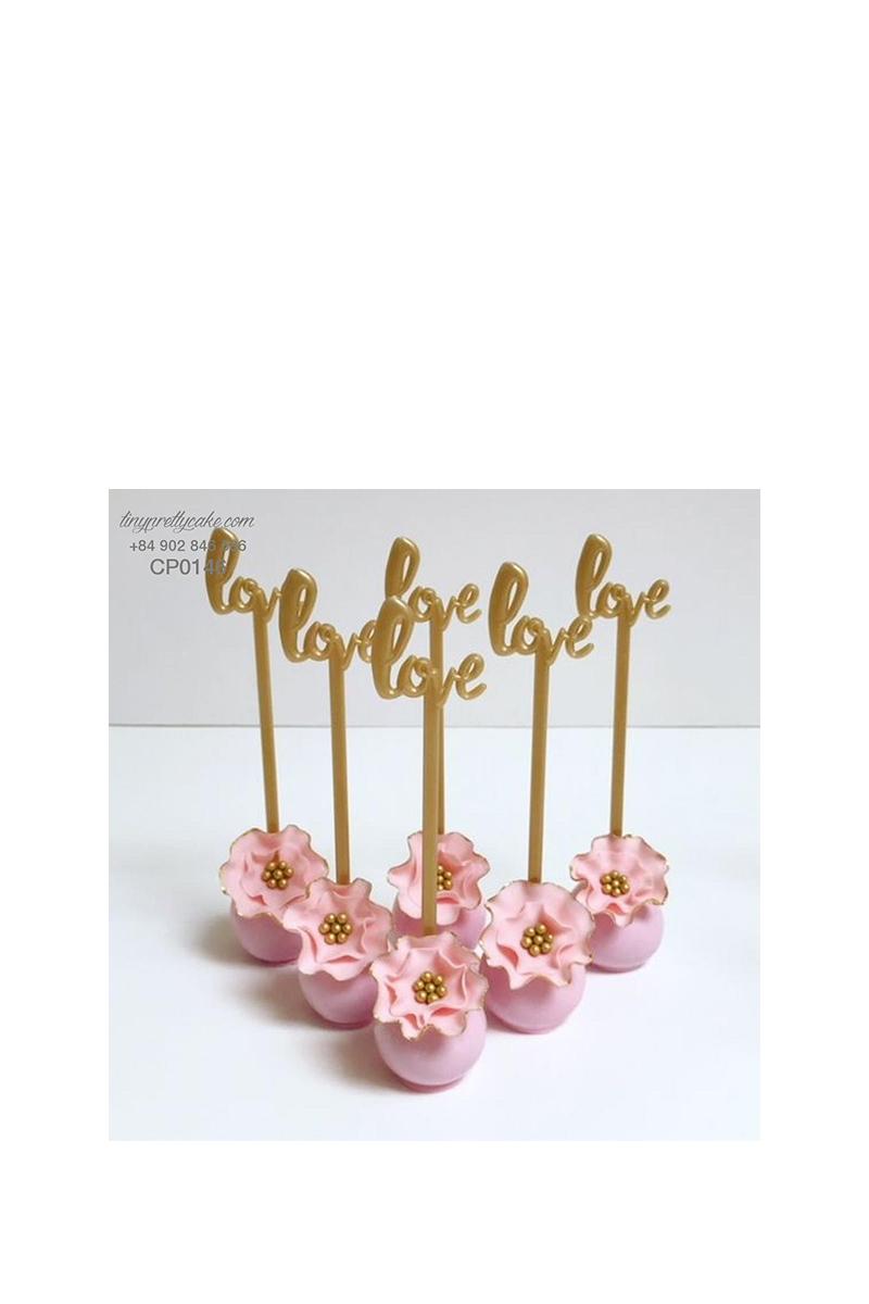 Cakepop hoa hồng tình yêu cực xinh cho phụ nữ (CP0146)