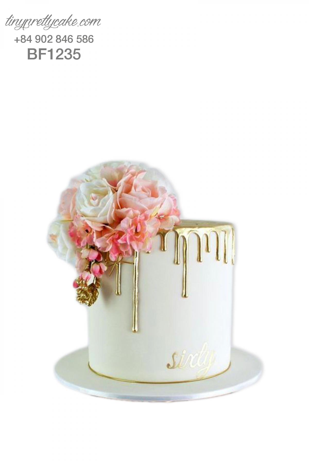 Bánh gato hoa hồng tinh tế cho phụ nữ (BF1235)