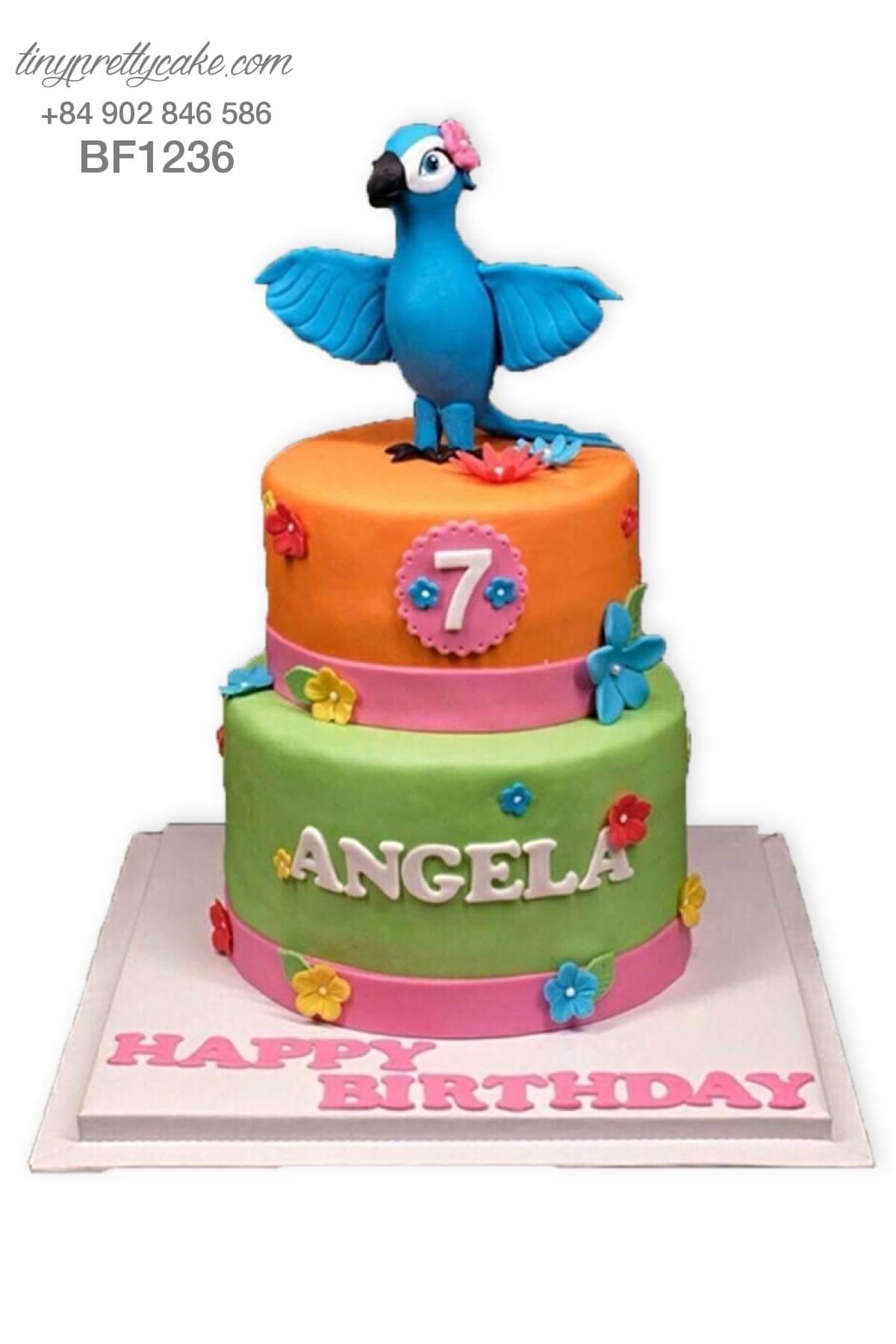 bánh sinh nhật con vẹt