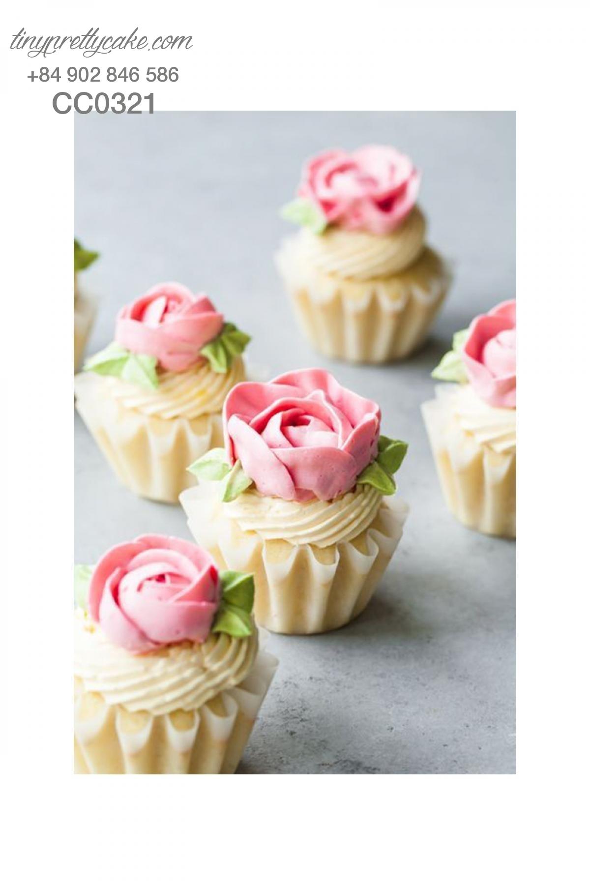 Cupcake hoa hồng xinh xắn nhất cho phụ nữ (CC0321)