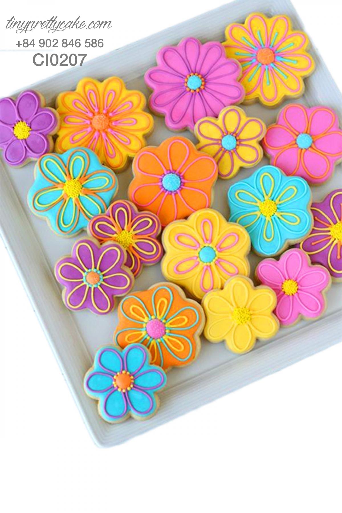 Cookie hoa sắc màu bắt mắt cho phụ nữ (CI0207)