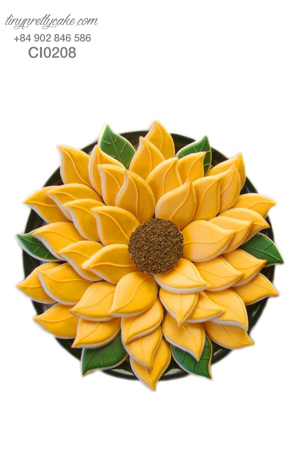Cookie hoa hướng dương cực đẹp cho phụ nữ (CI0208)