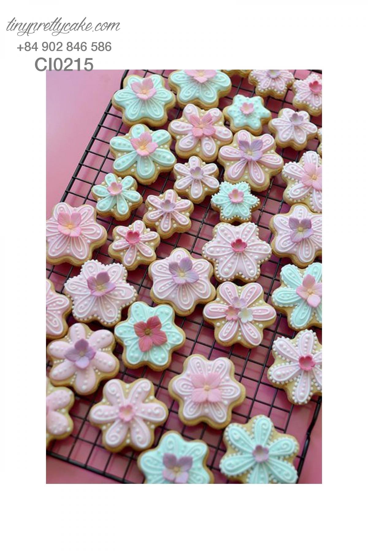 Cookie hoa mùa xuân xinh xắn cho phụ nữ (CI0215)