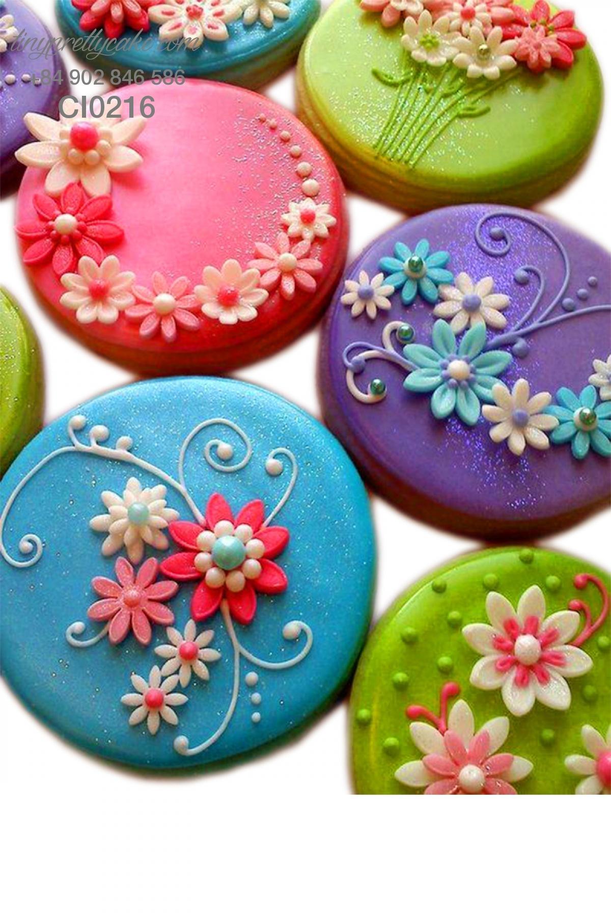 Cookie hoa mùa xuân cực đẹp cho phụ nữ (CI0216)