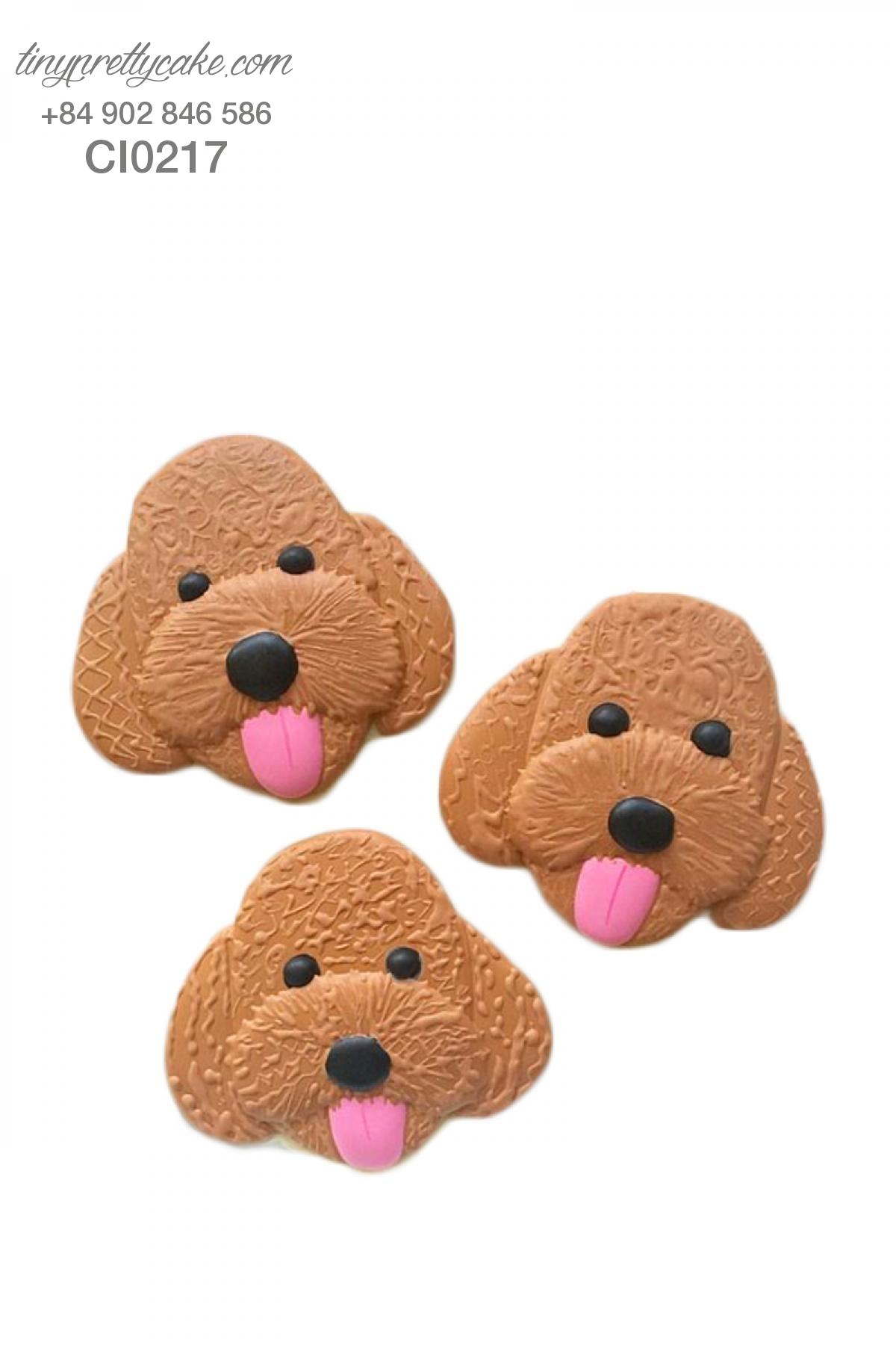 Cookie cún con màu nâu cực đáng yêu - mừng sinh nhật bé trai, bé gái (CI0217)