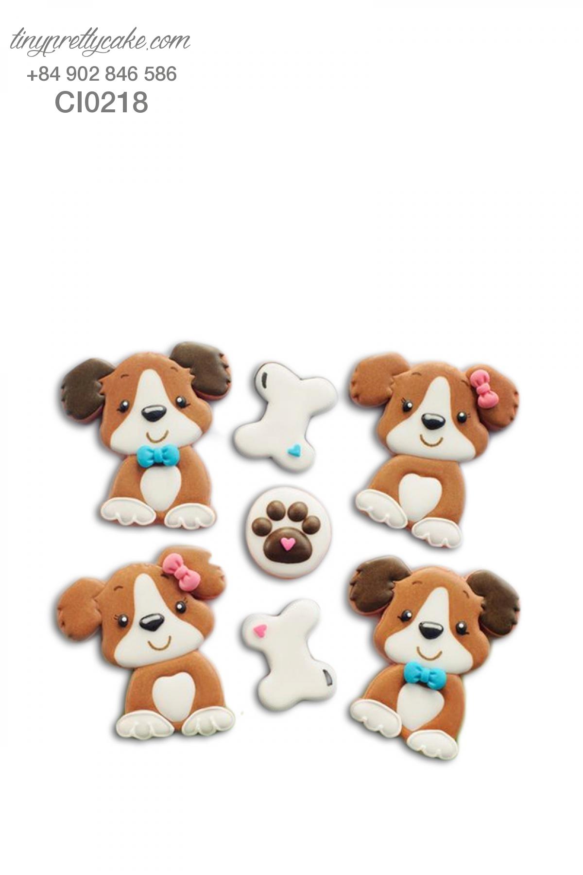 Cookie cún con dễ thương và khúc xương - mừng sinh nhât bé trai, bé gái (CI0218)