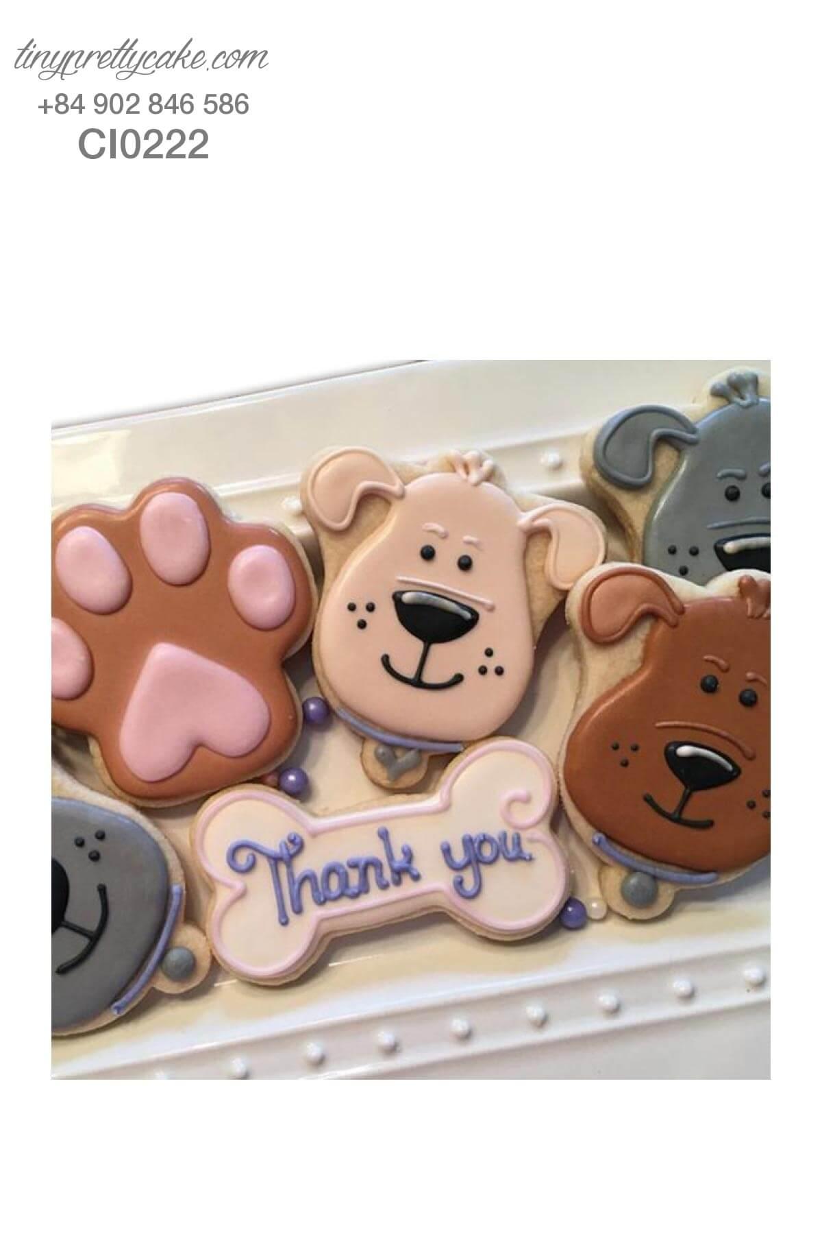 bánh quy sinh nhật cún con