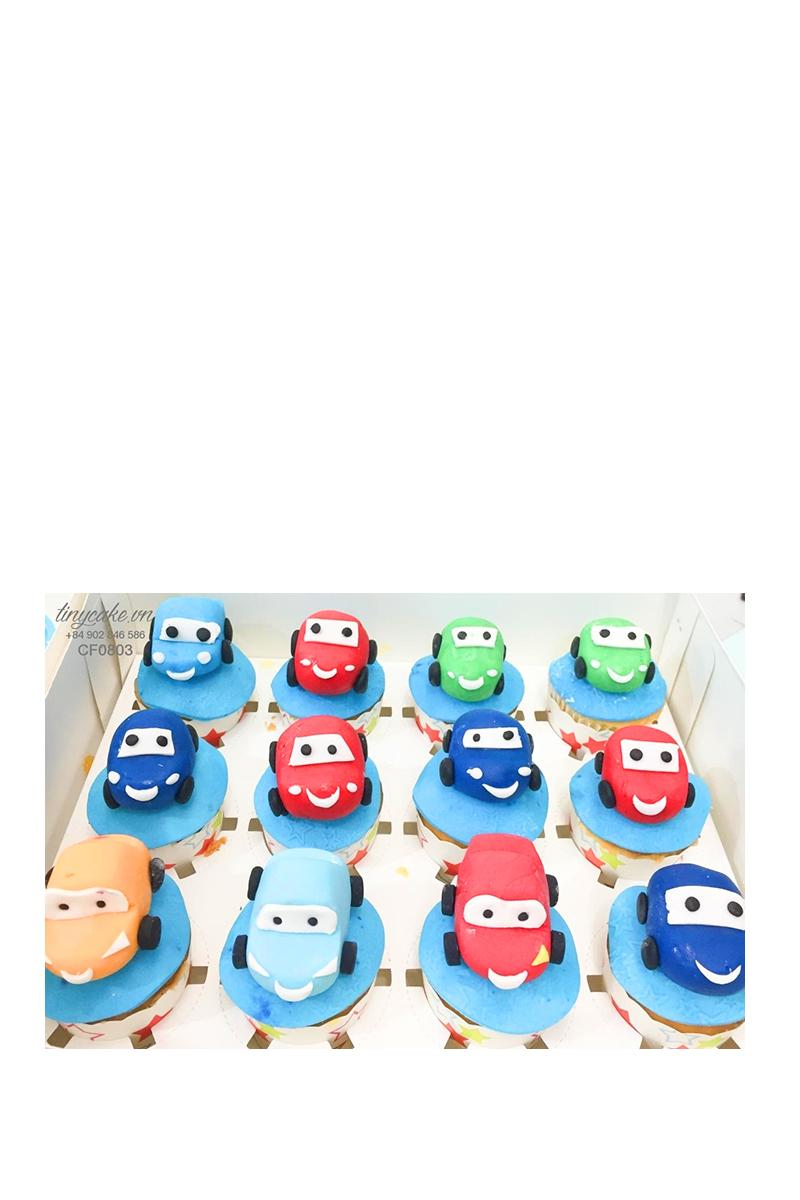 Cupcake xe hơi (ô tô) cực chất - mừng sinh nhật cho bé trai (CF0803)