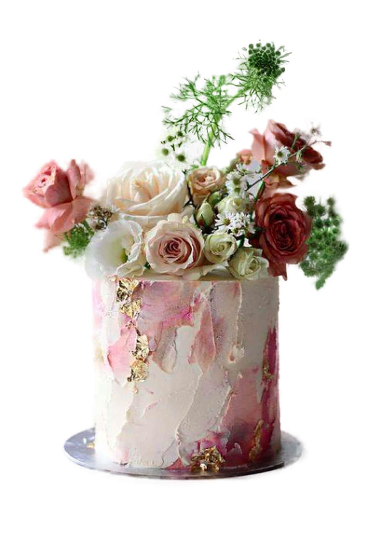 bánh kem hoa tươi cực đẹp