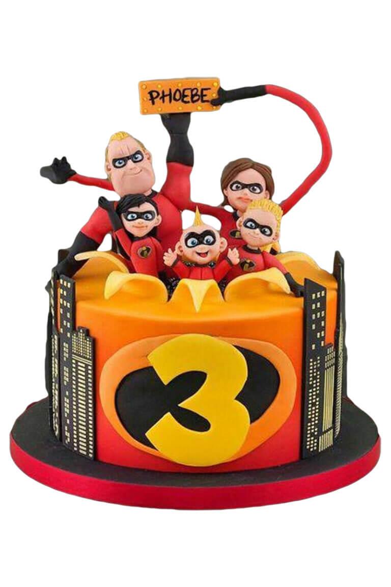 bánh sinh nhật nhân vật hoạt hình siêu nhân