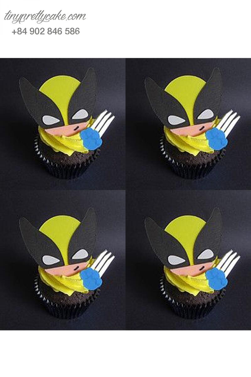 Bánh Cupcake Wolverine nhí nhánh mừng sinh nhật các bé