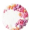 Bánh kem tạo hình vườn hoa hồng mùa xuân đầy màu sắc sống động và rực rỡ
