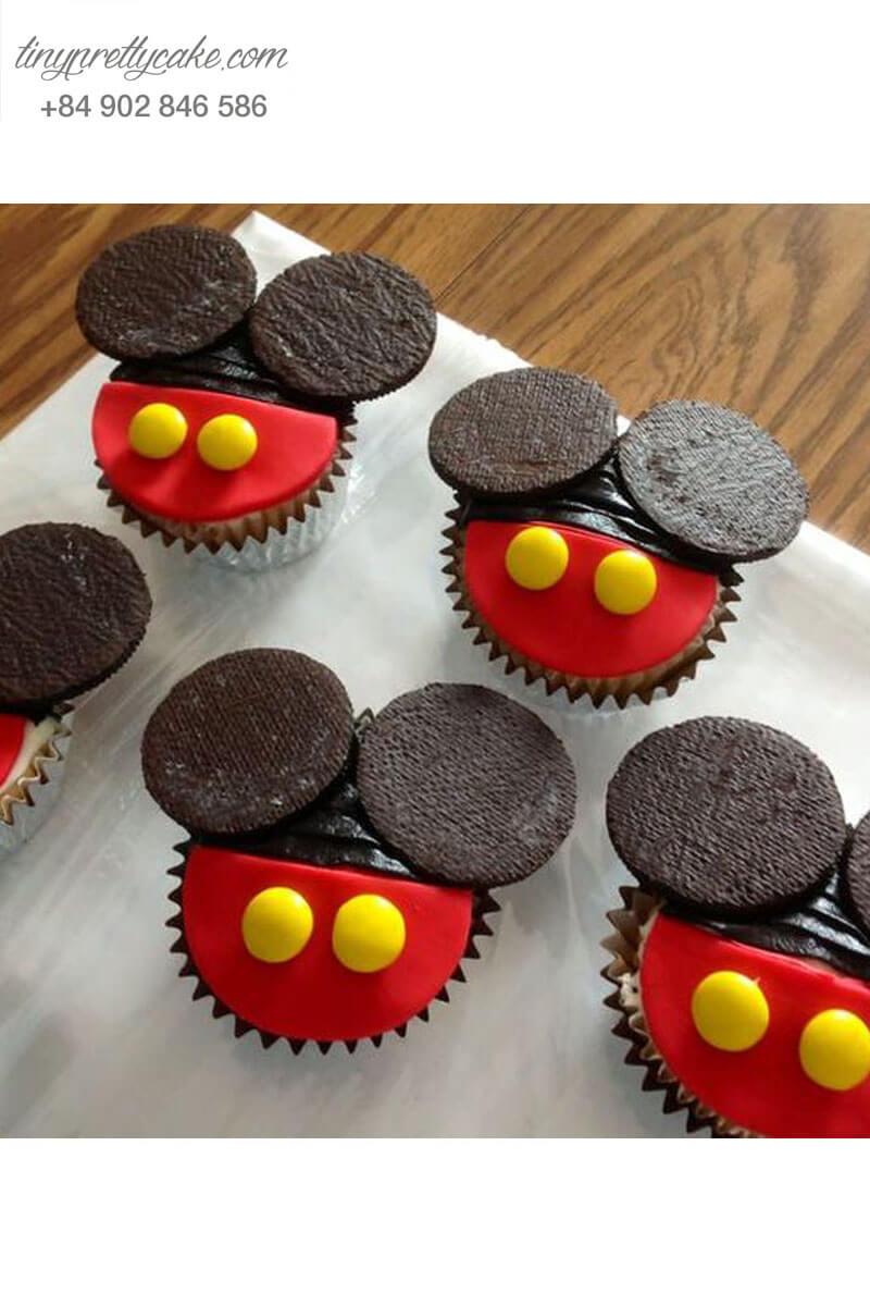 Bánh Cupcake hình chuột Mickey siêu hot dành tặng sinh nhật các bé
