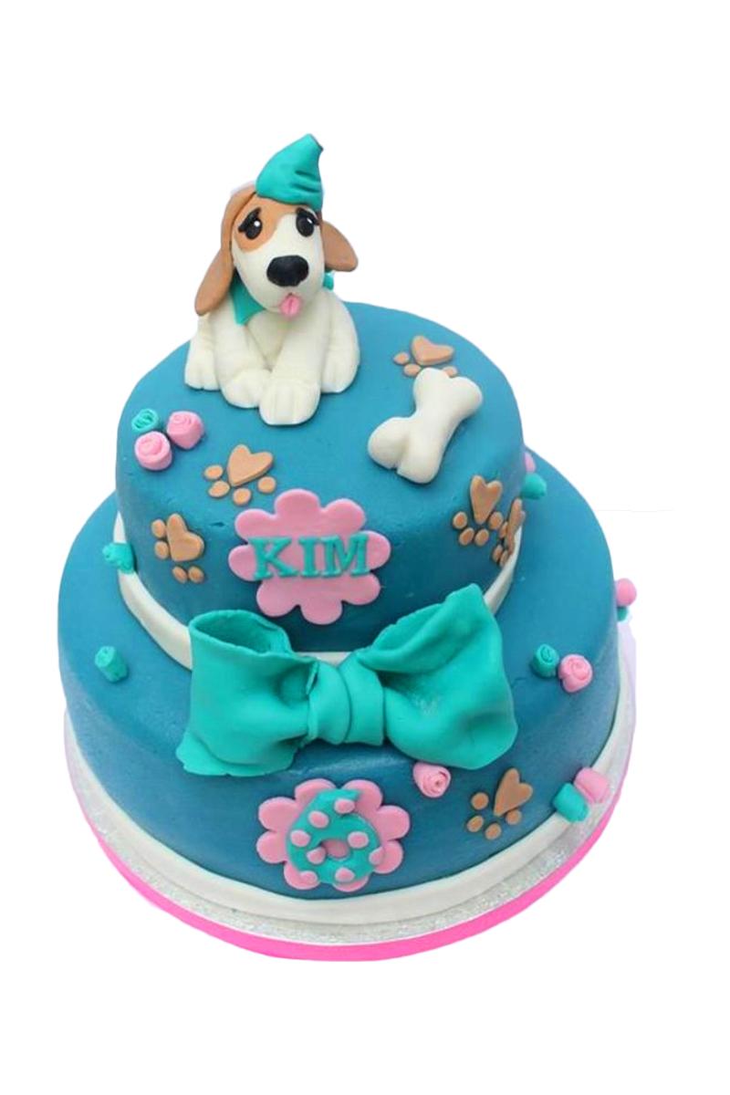 Bánh sinh nhật cún con cực dễ thương cho bé trai, bé gái