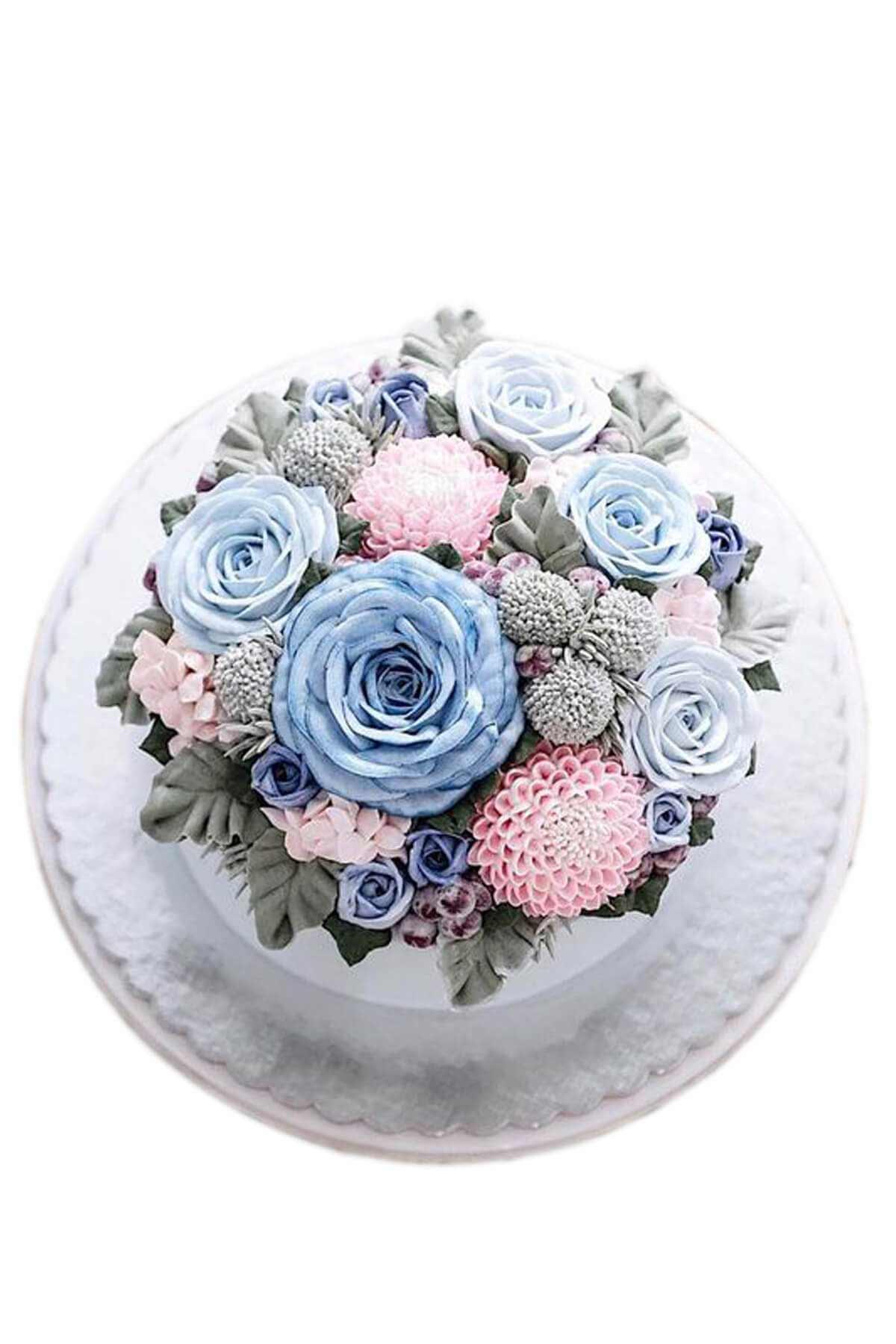 bánh sinh nhật vườn hoa