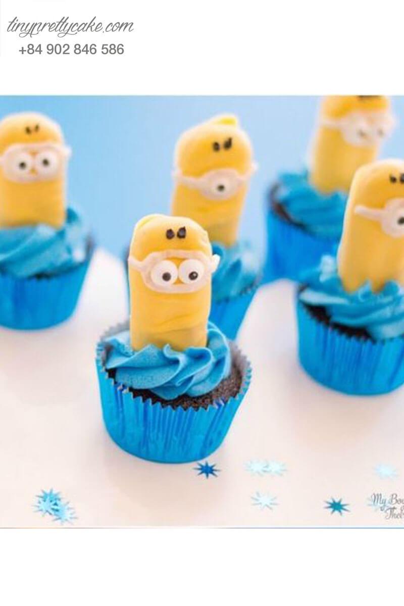 """Bánh cupcake minion """"giận dỗi"""" cho sinh nhật các bé ngoan"""