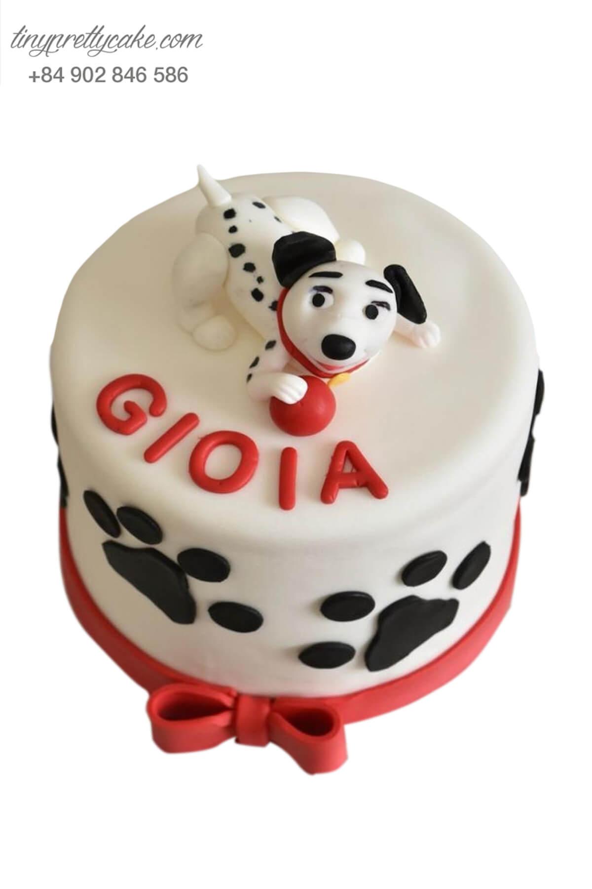 Bánh sinh nhật tạo hình Chó đốm cực đáng yêu cho bé trai, bé gái (AC0303)