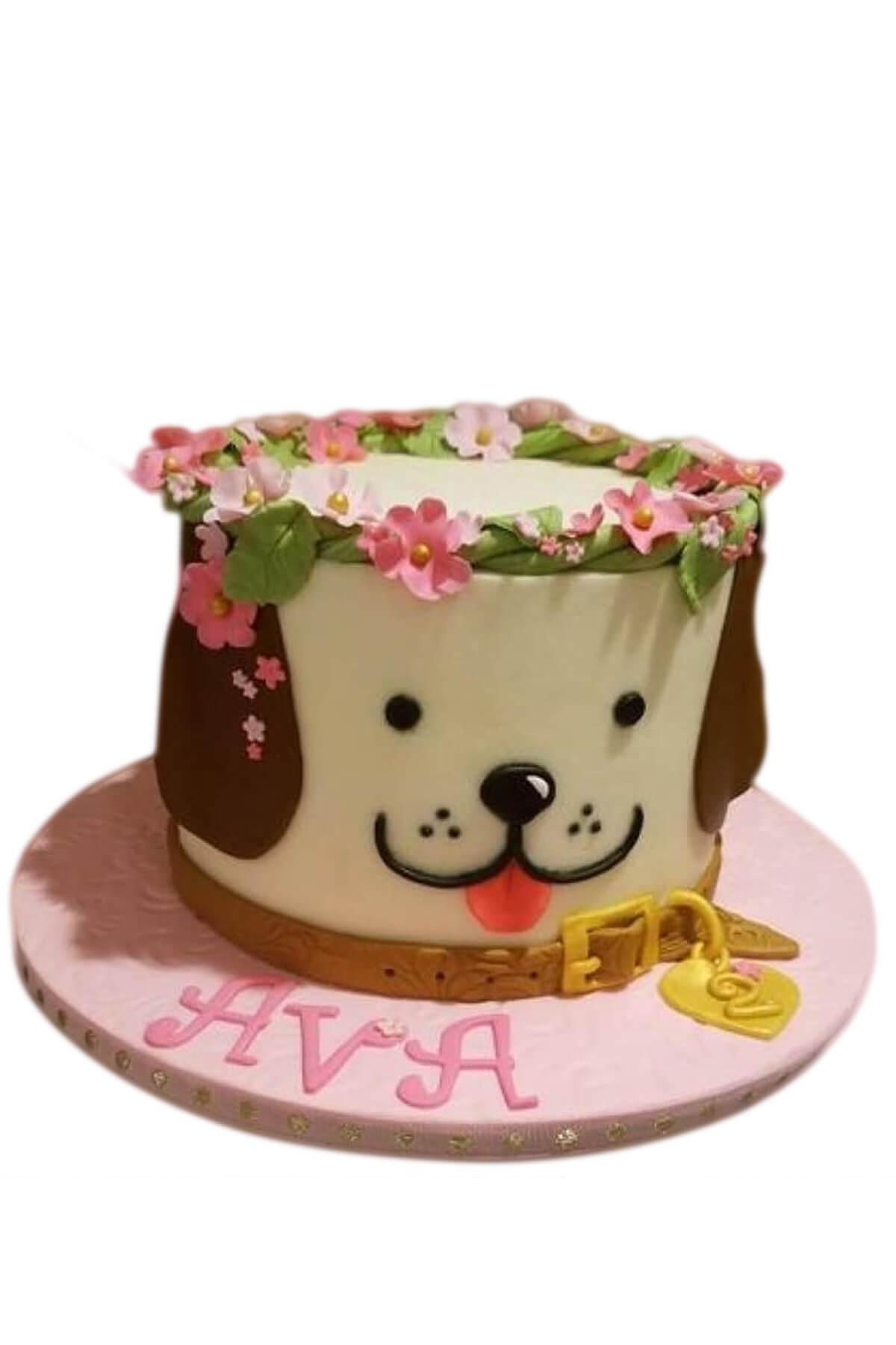 Bánh sinh nhật con chó dễ thương