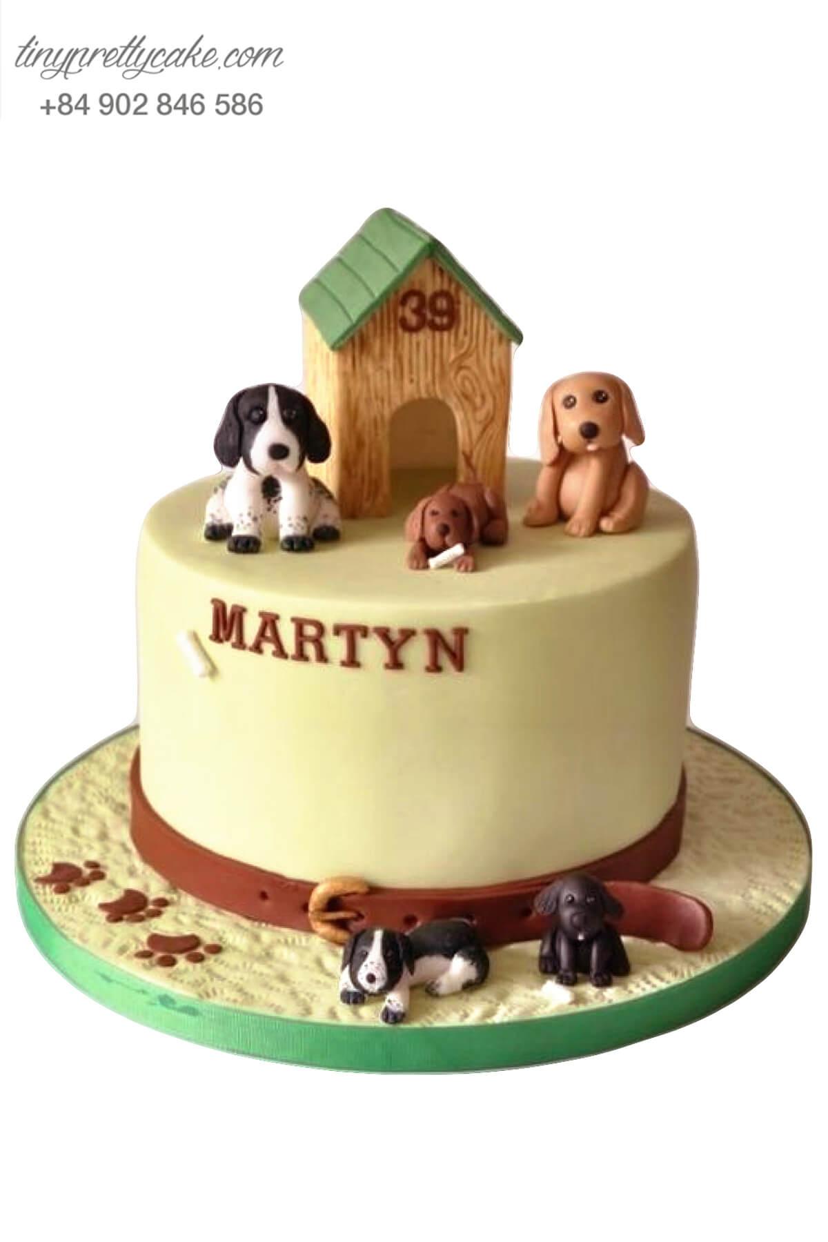 Bánh sinh nhật Gia đình thân yêu của chó con cực ý nghĩa cho bé trai (AC0307)