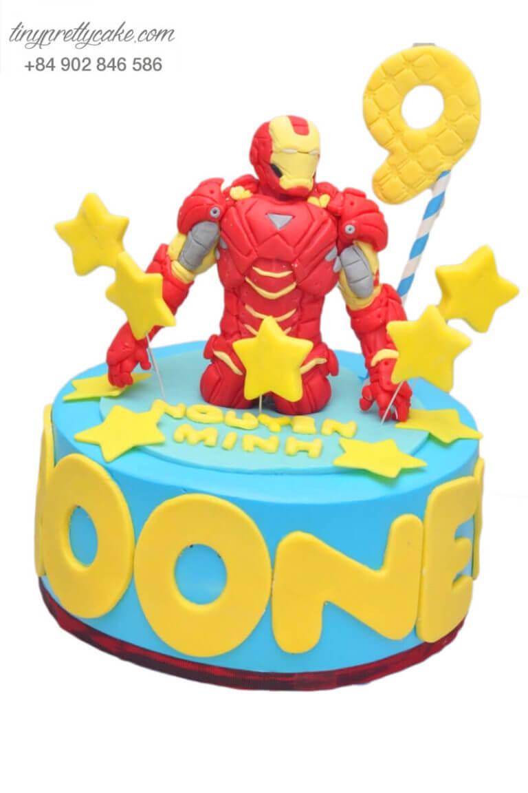 bánh gato sinh nhật tạo hình Iron Man