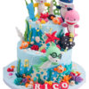 Bánh gato sinh nhật 2 tầng gia đình cá mập