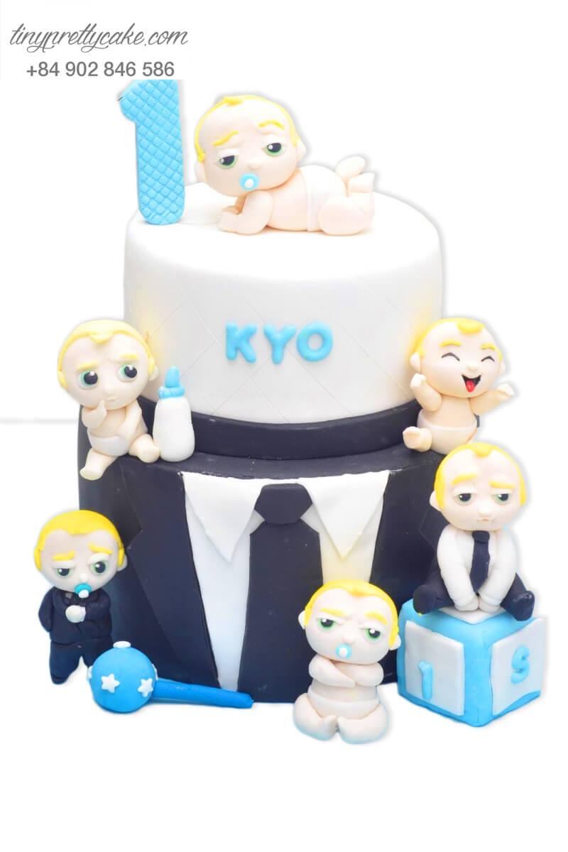 Bánh sinh nhật hai tầng tạo hình Boss Baby cho bé trai tinh nghịch (BF1095)