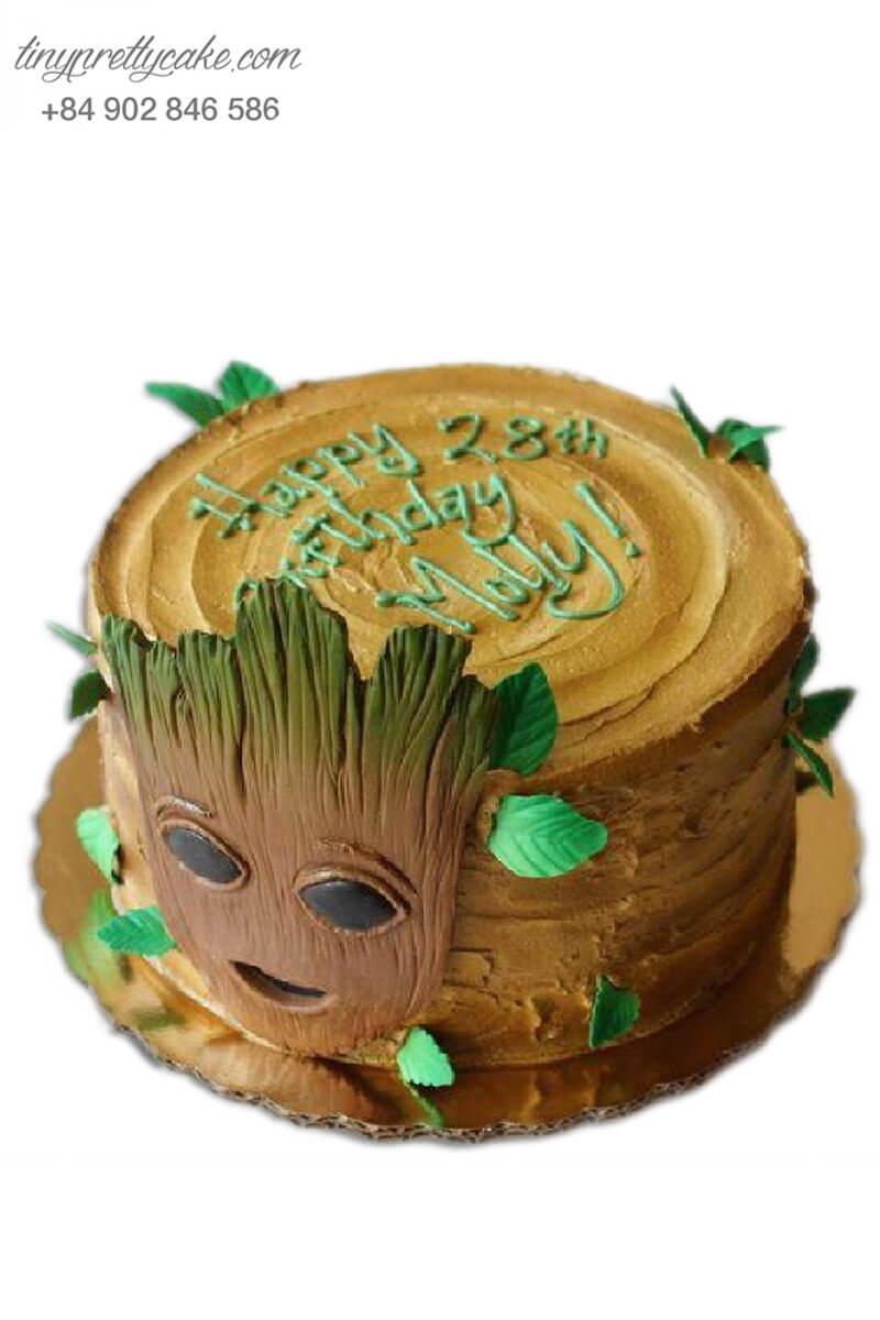 Bánh sinh nhật tạo hình Bé người cây Groot siêu đáng yêu cho bé trai (BF1182)
