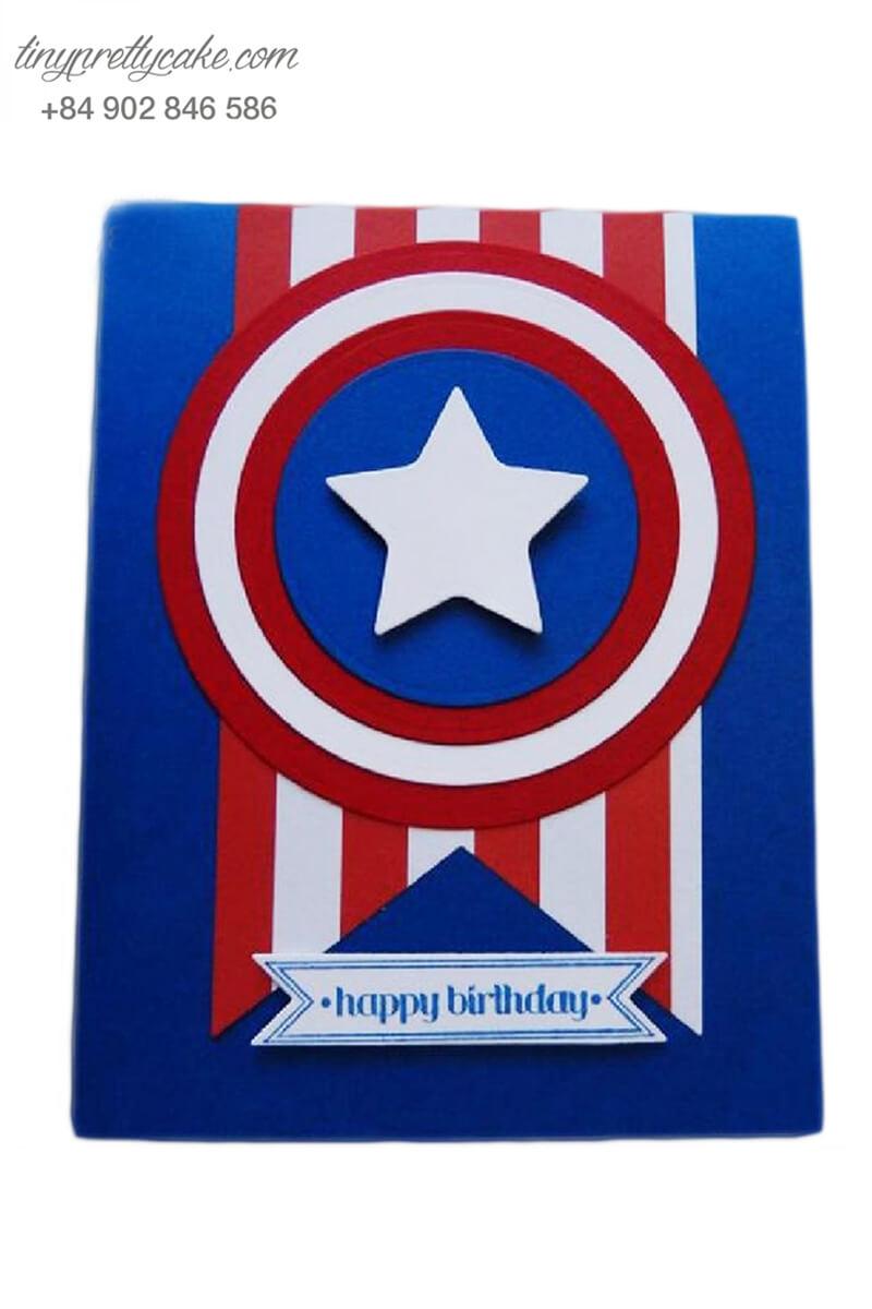 Bánh sinh nhật tạo hình trang phục Captain America cực chất cho các bé trai (BF1185)