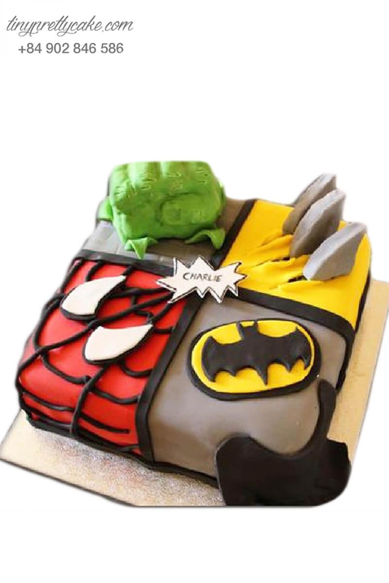 Bánh sinh nhật các siêu anh hùng cực ngộ nghĩnh cho các bé trai cá tính (BF1197)
