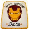 Bánh sinh nhật tạo hình mặt nạ của Iron Man cực cool ngầu cho bé trai (BF1205)