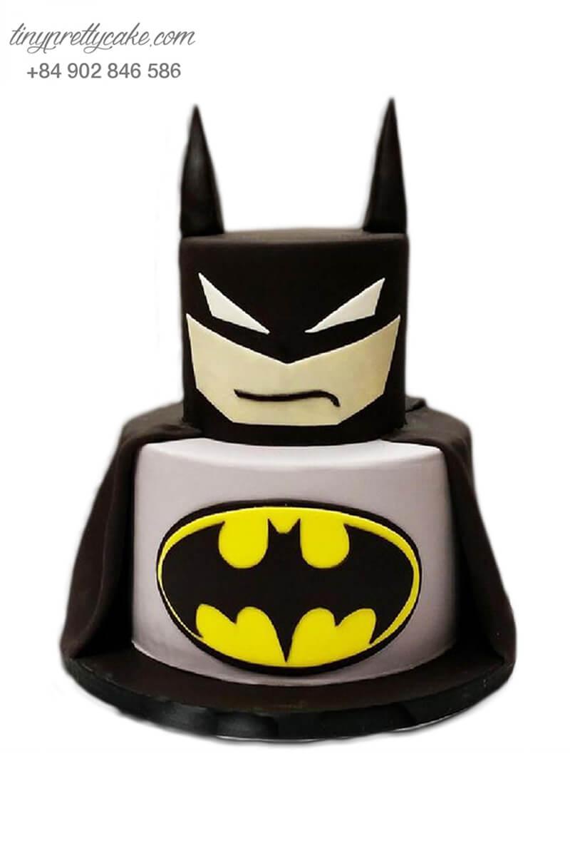 Bánh sinh nhật hai tầng tạo hình Batman In Marvel ngộ nghĩnh cho bé trai (BF1206)