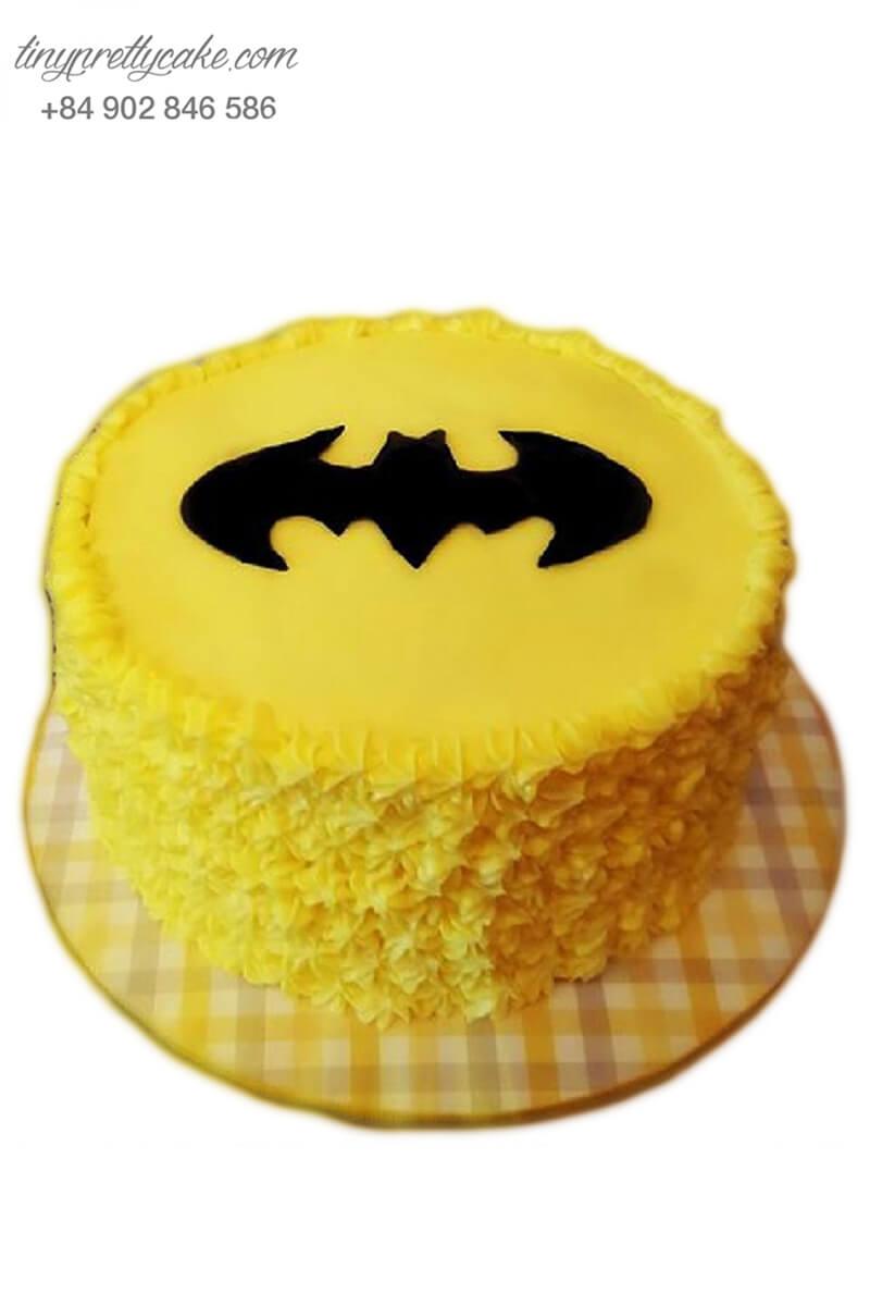 """Bánh sinh nhật tạo hình anh hùng Batman """"In Yellow"""" dễ thương cho bé trai (BF1208)"""