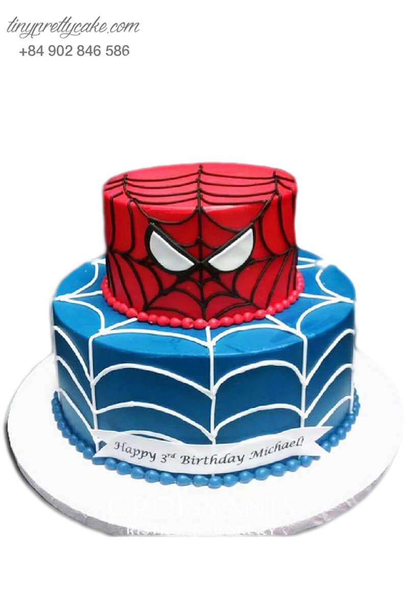 bánh kem 2 tầng siêu nhân người nhện