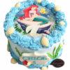 Bánh sinh nhật thôi Nàng tiên cá cùng chú cá vàng cực lạ cho bé gái (EI0616)