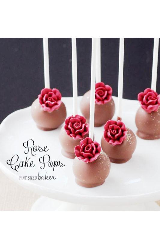 Bánh Cakepop socola hoa hồng - Ngọt ngào không chỉ ở người cho mà còn ở người nhận