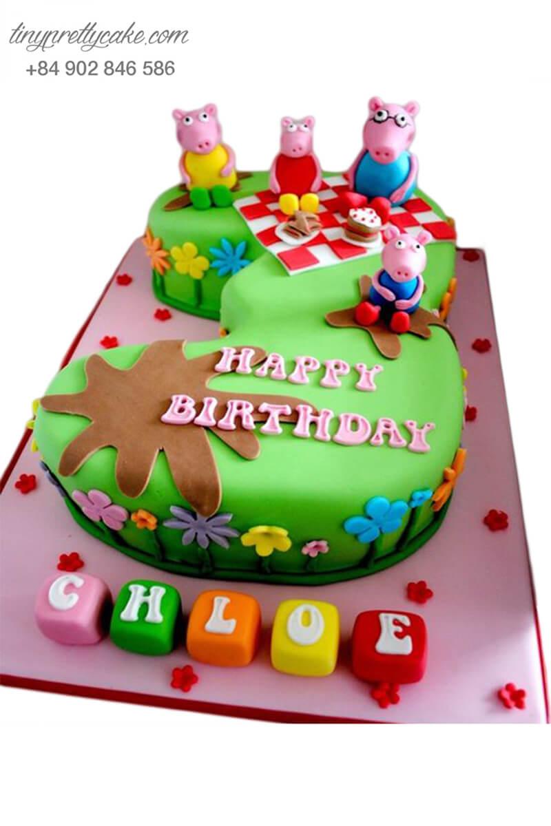Gato hình số 3 và các chú heo Peppa ngộ nghĩnh, mừng sinh nhật, đầy tháng cho các bé