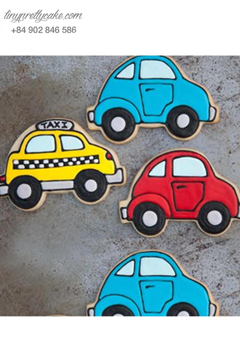 Set 3 Cookie xe hơi ngộ nghĩnh đáng yêu – mừng sinh nhật cho bé trai