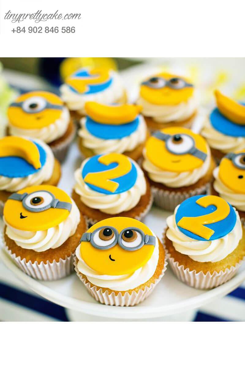 Set 12 Cupcake Minion đáng yêu mừng sinh nhật các bé