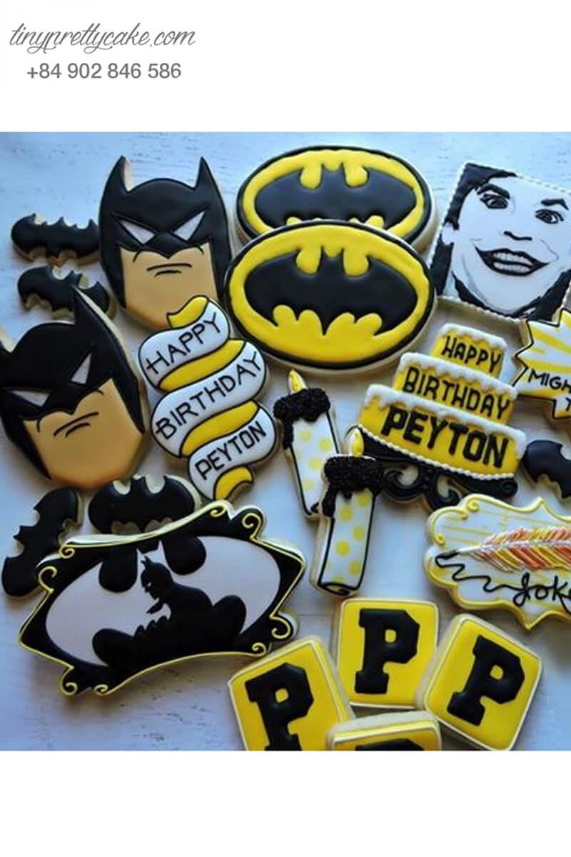 Set 20 Cookie tạo hình Batman cực ngầu - mừng sinh nhật bé trai