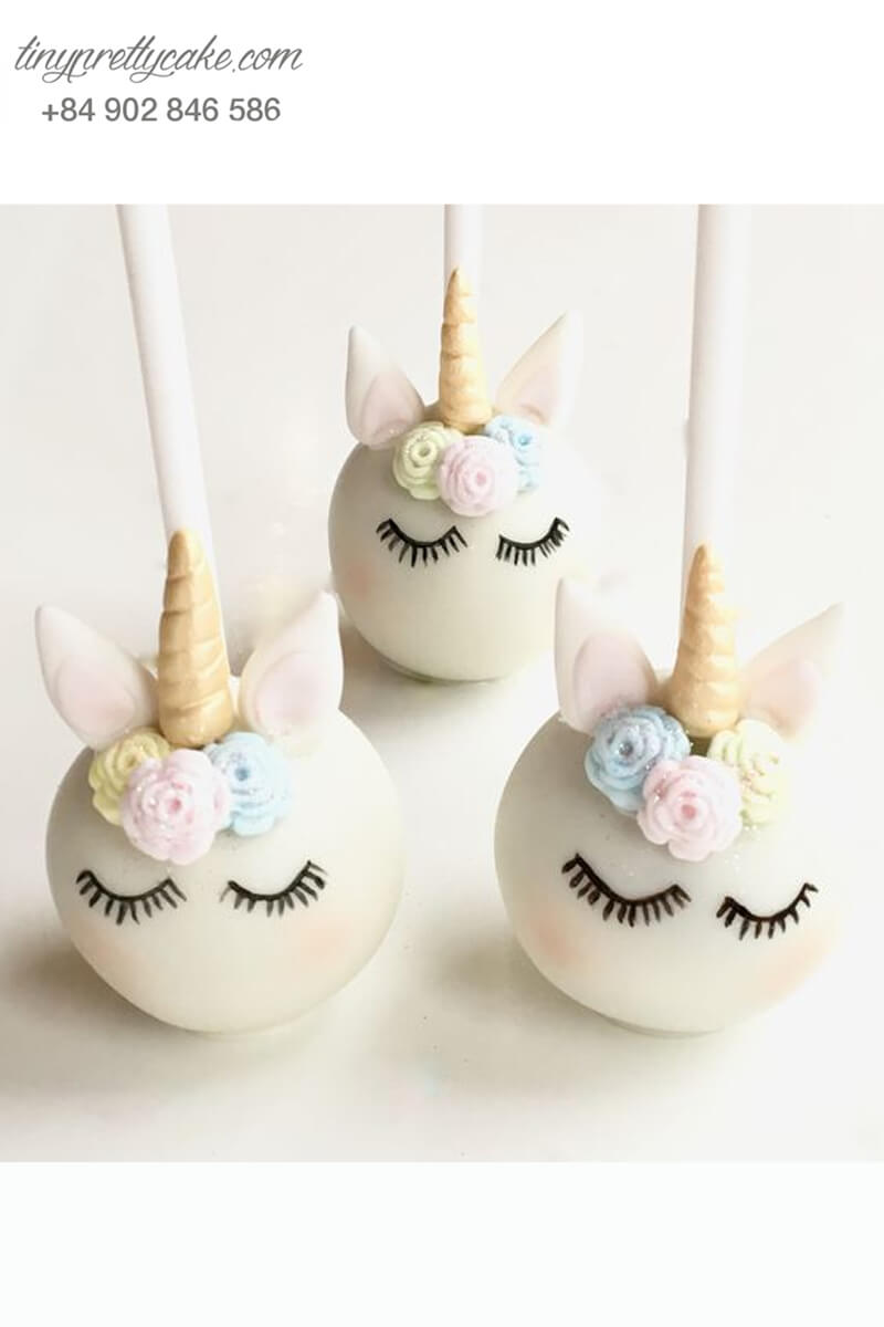 Bánh cakepop hình ngựa Pony Unicorn dễ thương tặng bé gái nhân dịp sinh nhật