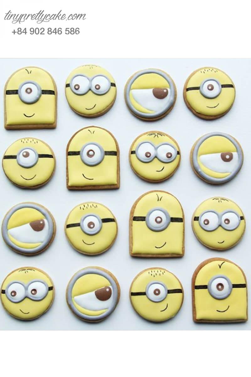 Set 12 cookie tạo hình icon của Minion dễ thương - mừng sinh nhật cho các bé