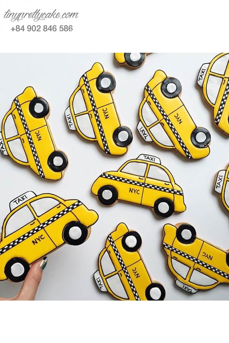 Cookie xe taxi vàng độc lạ - mừng sinh nhật cho bé trai