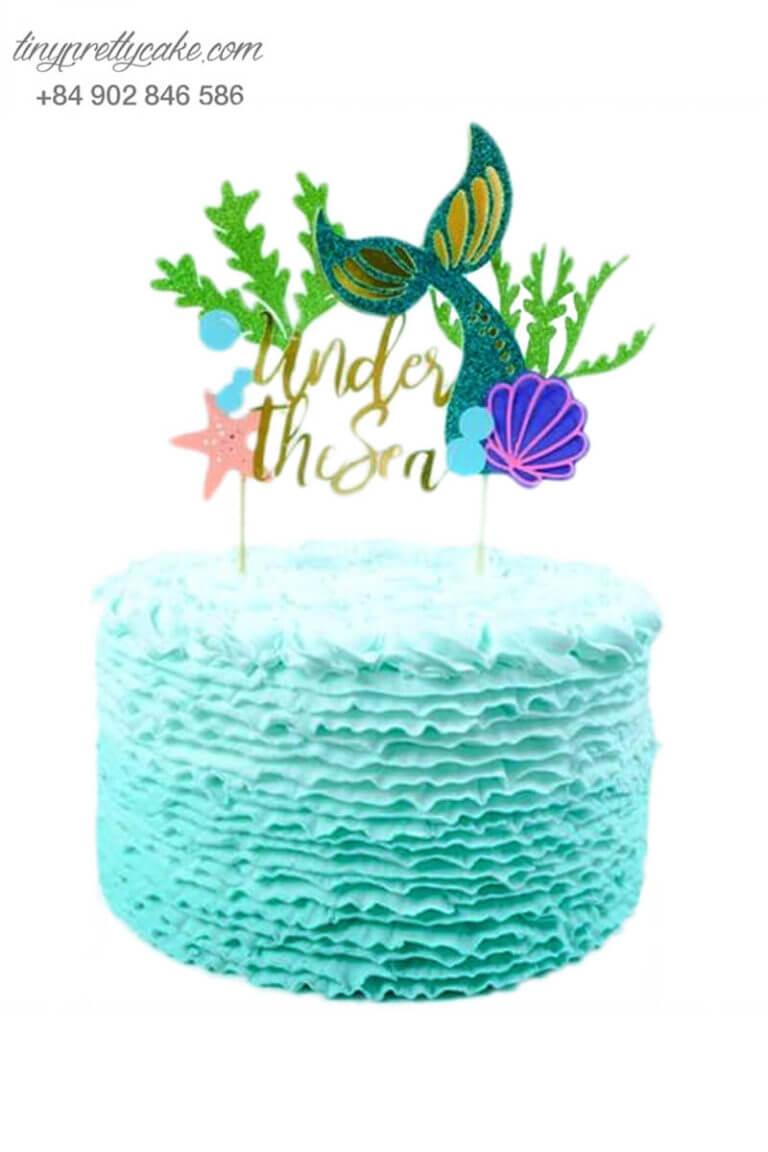 Bánh sinh nhật chủ đề nàng tiên cá