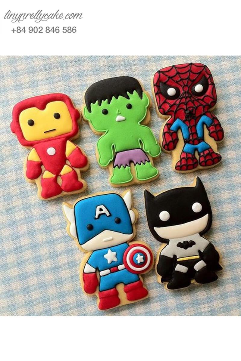 Set 5 Cookie siêu anh hùng Avenger - mừng sinh nhật bé trai