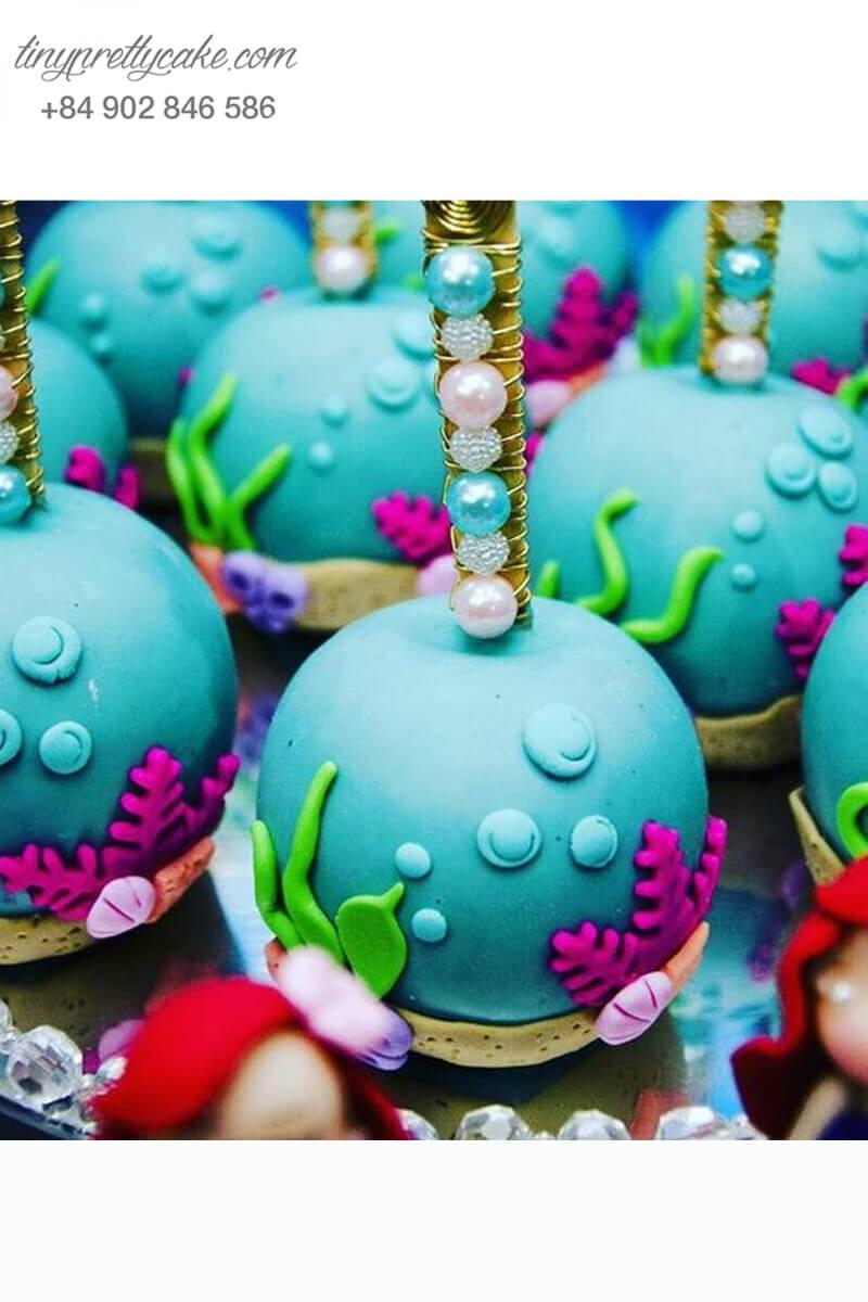 Bánh cakepop tạo hình theo chủ đề nàng tiên cá Ariel sang xịn mừng sinh nhật bé gái