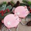 bánh cookie giáng sinh heo hồng