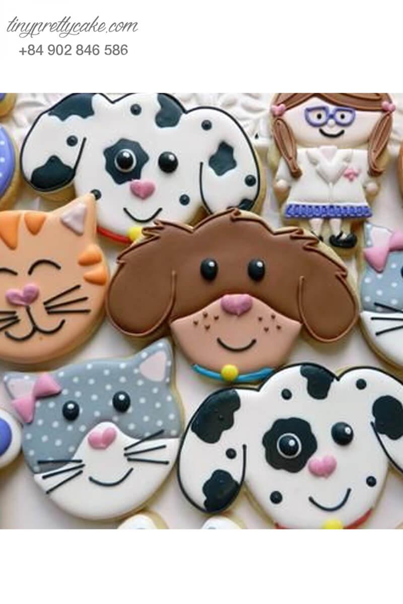 Set 8 Cookie những chú chó đáng yêu - mừng sinh nhật, thôi nôi các bé